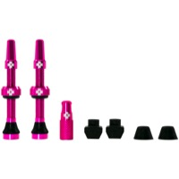 Muc-Off Tubeless Valve Kit - 44mm Valve Kit (Pink)