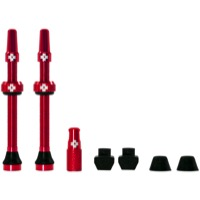 Muc-Off Tubeless Valve Kit - 60mm Valve Kit (Red)