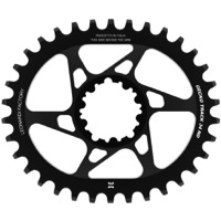 Leonardi Gecko Track Sram BB30 DM Chainring - 34 Tooth Oval (Black)