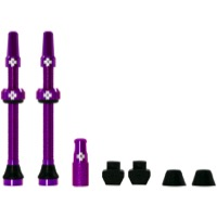 Muc-Off Tubeless Valve Kit - 60mm Valve Kit (Purple)