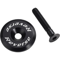 Reverse Components Headset Top Cap/Bolt - Black
