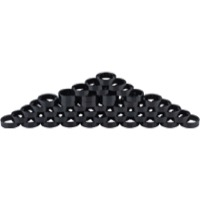 "Problem Solvers Alloy Headset Spacers - 1 1/8"" x 10mm, Bag of 50 (Black)"