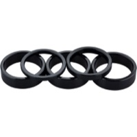 "Problem Solvers Alloy Headset Spacer Kit - 1 1/8"" Kit (Black)"