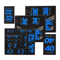 Fox Racing Shox Heritage Decal Sets v.3 - Blue