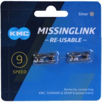 KMC Missing Link Connectors - MissingLink-9 9sp Chain, Re-usable (2/Card)
