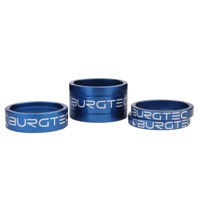 "Burgtec Headset Spacer Kit - 1 1/8"" Kit (Deep Blue)"