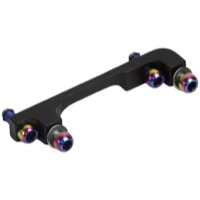 Sram/Avid Disc Brake Adaptor and Hardware Sets - F-200mm/R-180mm / 74mm / 74mm / Fork/Frame (40 P) Rainbow Bolts