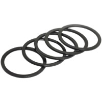 "Wheels Manufacturing Alloy Headset Spacers - 1 1/8"" x 1.5mm Bag of 5 (Black)"