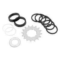 Wheels Mfg. Single Speed Conversion Kit - 7 spacers and 16t x 3/32 cog (Shimano)