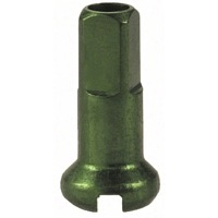 DT Swiss Alloy Nipples - 2.0 x 12mm Green Alloy
