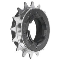 "Shimano MX Single Freewheel - 16t English Thread 3/32"" (Silver)"