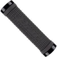 "Lizard Skins Peaty ""Cheers"" Lock-On Grips  - 130mm (Graphite Grips/Red Clamp)"