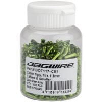 Jagwire Cable End Crimps - 1.8mm Green 500/Bottle