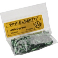 Wheelsmith Nipples - Green Alloy 12mm