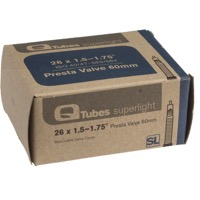 "Q Tubes Super Light Presta Tubes - 26"" - 26"" x 1.5-1.75"" 60mm PV"