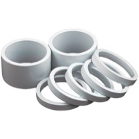 "Wheels Manufacturing Alloy Headset Spacers - 1 1/8"" x 20mm Each (White)"