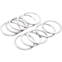 "Wheels Manufacturing Alloy Headset Spacers - 1 1/8"" x 1.5mm Bag of 10 (Silver)"