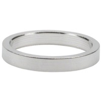 "Wheels Manufacturing Alloy Headset Spacers - 1 1/8"" x 5mm Bag of 10 (Silver)"