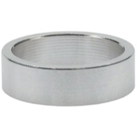 "Wheels Manufacturing Alloy Headset Spacers - 1 1/8"" x 10mm Bag of 5 (Silver)"