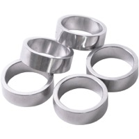 "Wheels Manufacturing Alloy 1"" Headset Spacers - 1"" x 10mm Bag of 5 (Silver)"