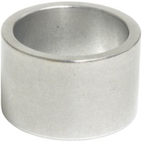 "Wheels Manufacturing Alloy 1"" Headset Spacers - 1"" x 20mm Each (Silver)"