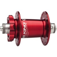Chris King ISO Disc Front Hub - Red 32h - 100mm Spacing