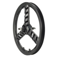 "ACS Stellar Mag Front Wheel - Black, 3/8"" Axel - 20"" x 3/8"" Axle (Black)"