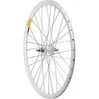All City Fixed/Fixed / Velocity Deep V Rear Wheel - 700c x 32h x 10x120mm Bolt On (White Hub/White Rim)