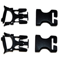 Ortlieb Replacement Buckles - Stealth 25mm Buckles, Repair, (Male and Female housing with Openings)