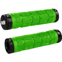 ODI Rogue Lock-On Grips - Bonus Pack (Lime Green Grips/Black Clamps)