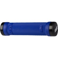 ODI Ruffian Lock-On Grips - Bonus Pack (Blue Grips/Black Clamps)