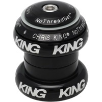 "Chris King Griplock No Threadset - Black 1 1/8"" (White Logo)"