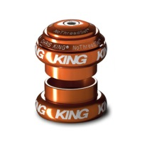 "Chris King Griplock No Threadset - Mango 1 1/8"" (White Logo)"