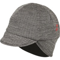 Pace Merino Wool Reversible Cycling Cap - Herringbone/Black - One Size Fits All (Herringbone/Black)