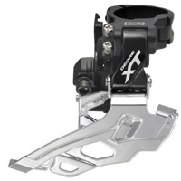 Shimano FD-M781 High Clamp Front Derailleur - 3 x 10 Speed - Black, Top Pull (28.6/31.8/34.9mm)