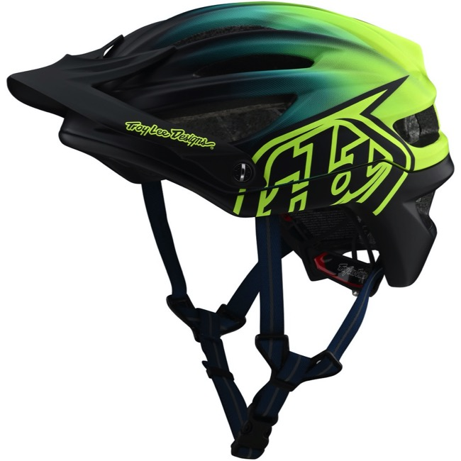 Troy Lee Designs A2 MIPS Helmet X-Large//XX-Large Stain/'d Navy//Yellow
