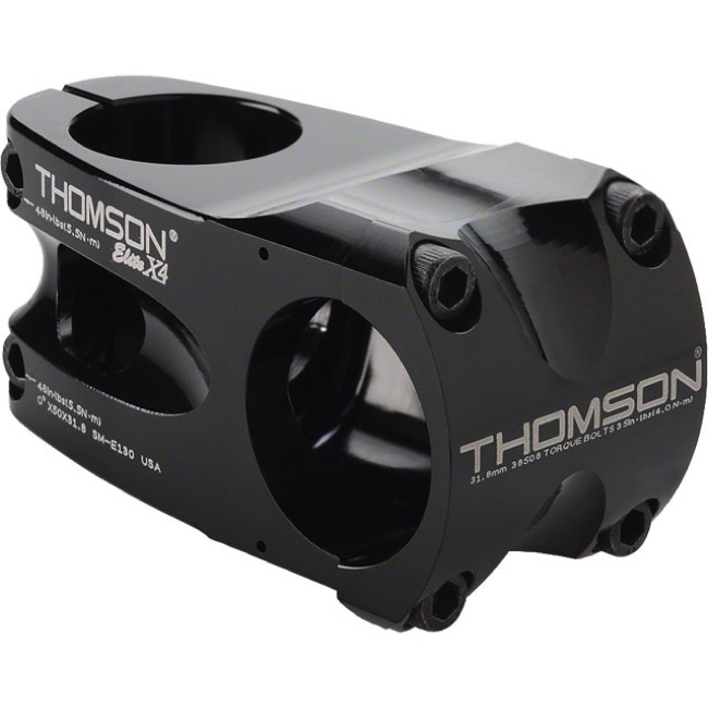 """// 10 degree 31.8 1-1//8/"""" Threadless Black Thomson Elite X4 Mountain Stem 100mm"""