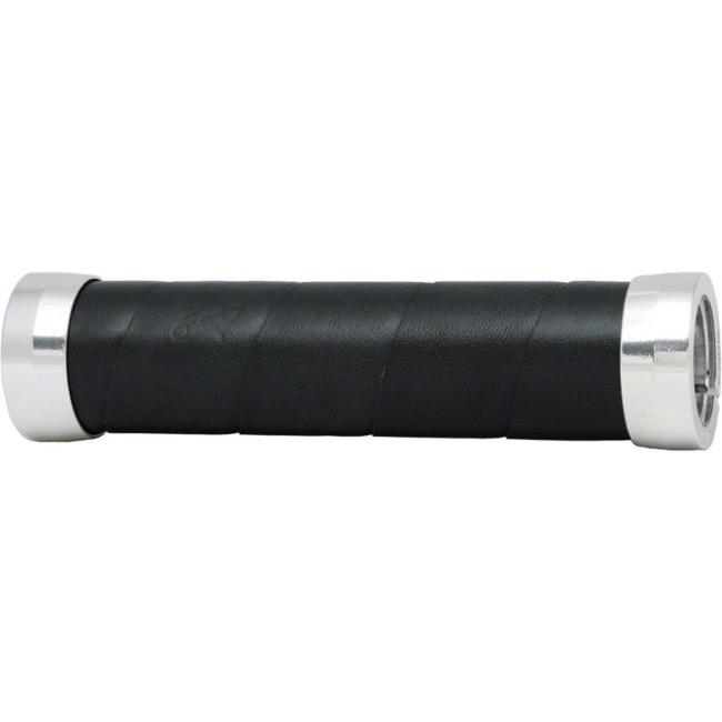 130mm New Brooks Slender Leather Grips Black
