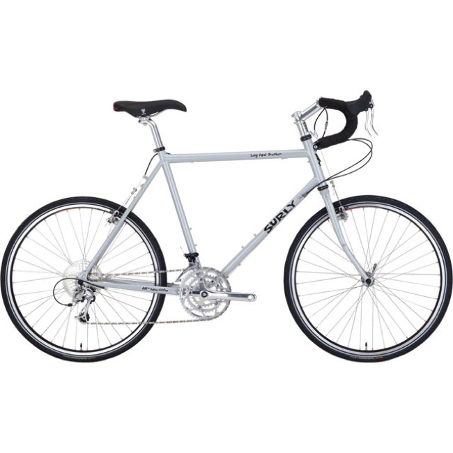 "b12a8f90 Surly Long Haul Trucker 26"" Complete Bike - Smog Silver - 62cm (Smog  Silver"
