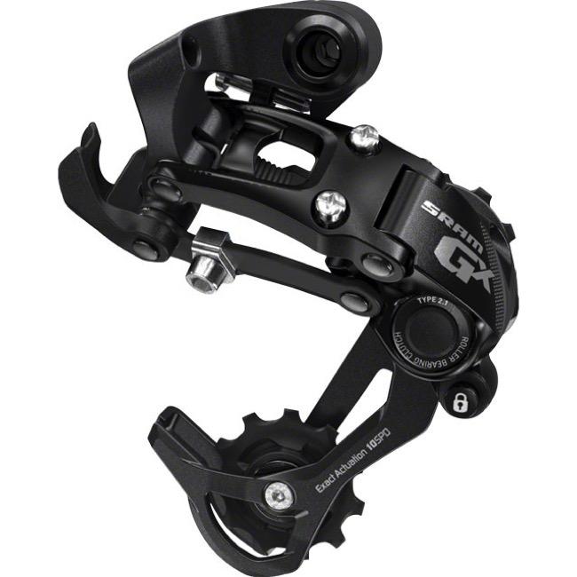 Sram GX Type 2 1 Rear Derailleur - 10 Speed - Short Cage (Black)