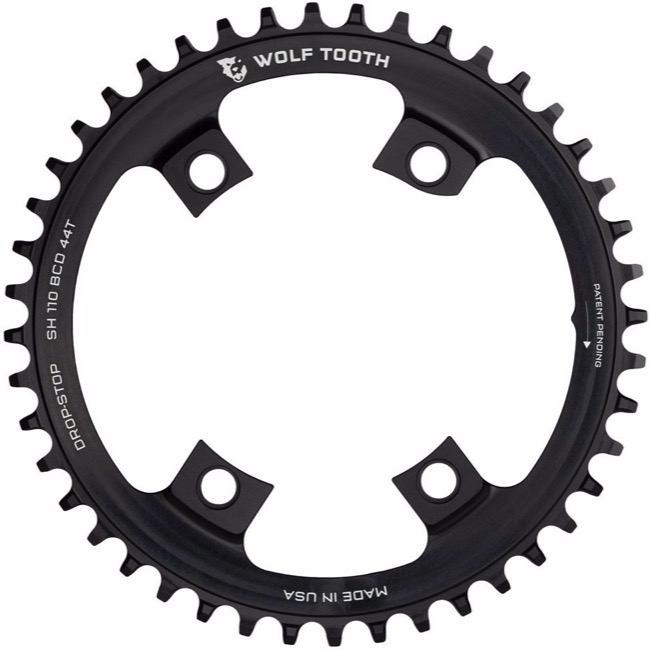 Wolf Tooth Components Drop-Stop 42t Chainring Shimano 110mm Asymmetric BCD Black