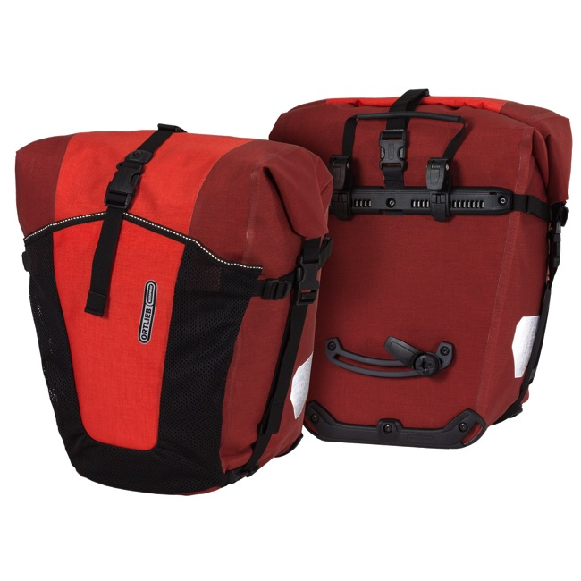 Pair Red Dark Chilli Bike Touring Bag~PAIR 2 Ortlieb Sport-Packer Plus Pannier
