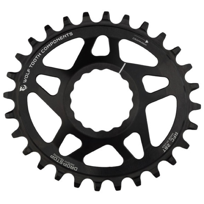 Wolf Tooth Components Drop-Stop PowerTrac 28t Chainring Cinch DM Boost