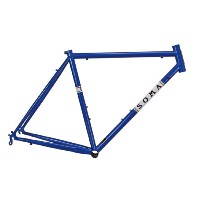 soma es road frame pacific blue