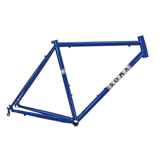 soma es road frame pacific blue