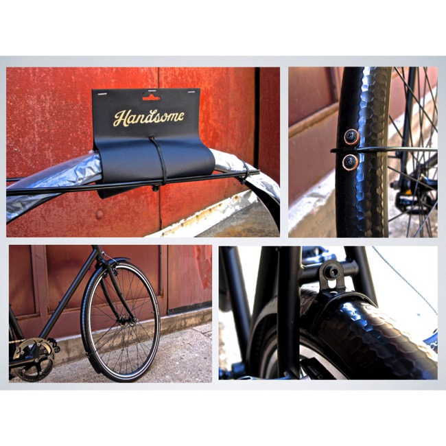 Handsome Cycles Mud Butler 700c Hammered Aluminum Copper Fenders