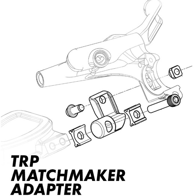 TRP Integrated Mountain Right-Hand Shifter Adapter Shimano I-Spec II
