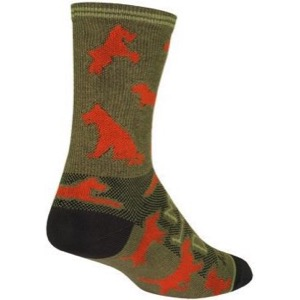 SockGuy Buddy Crew Socks - Green/Orange