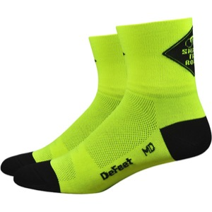 "DeFeet AirEator 3"" Share the Road Socks - Yellow"