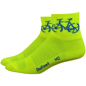 "DeFeet AirEator 3"" Townee Socks - Hi-Vis Yellow"
